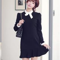 Vestido Corto Formal Elegante Moda Coreana Juvenil 2195