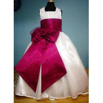 Vestido De Paje Pajecita Para Niña Color Bugambilia