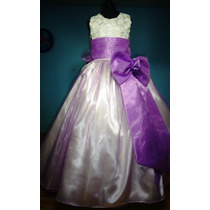 Vestido De Paje Pajecita Para Niña Falda Color Lila