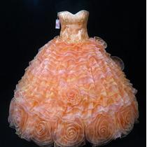 Oferta Vestido De Quince Xv Años Nuevo Color Salmon