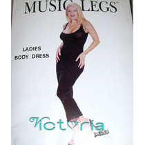 Vestido Tubo Unitalla Music Legs Negro Opaco