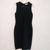 Hermoso Vestido Negro Calvin Klein Ck 100% Original