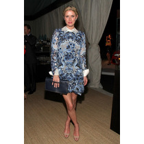 Vestido Nicky Hilton Cocktail Manga Larga