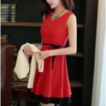 Vestido Casual Dos Colores Lindo Corto Moderno Juvenil 2382