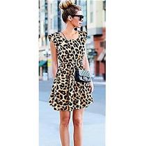 Vestido Leopardo Moda Asiática Entrega Inmediata