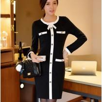 Vestido Corto Casual Manga Larga Moderno Envío Gratis 2465