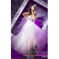 Vestido Fiesta Noche Alta Cost Tony Bowls Talla 6 $520 Dlls