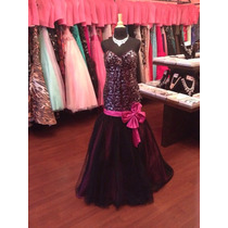 Vestido Fiesta Noche Alta Costura Tony B Talla 12 $630 Dlls