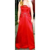 Lilasori Vestido De Fiesta Importado Talla 30 Color Rojo