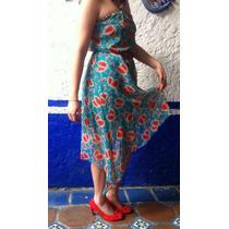 Original Vestido Strapless, Asimétrico Barato Azul/ Rojo