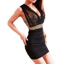 Vestido Negro Corto Sexy Para Antro Fiesta Noche Talla 3/5