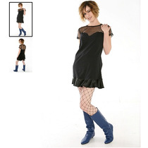 Hot Topic Vestido Super Low Fat Mesh Tunic Dress M