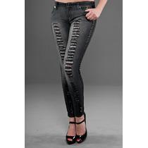 Jeans Baby Phat Talla 3 Color Negro Entubado Nuevo Etiquetas