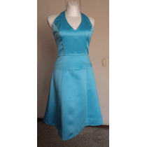 Vestido Halter Satinado Talla-s Couture Collection! Vst956