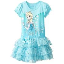 Vestido Disney De Frozen, Talla 5 / 6 Años