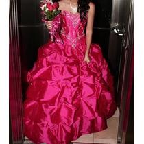 Vestido Xv Años Color Cereza