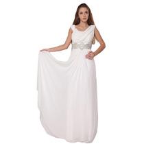Baituya Vestido De Boda De Baile Largo Blanco Elegant