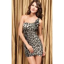 Vestido Hermoso Mujer Antro Animal Print