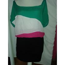 Vestido Talla Mediana De Colores Corto