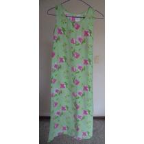 Talla-12 Swat Vestido Verde Con Estampado Floral! Vn93