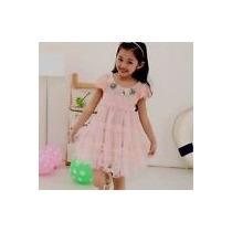 Vestido Niña Con Aplicaciones Talla 3-4 Nuevo