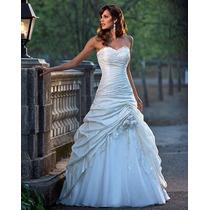 Hermoso Vestido De Novia Corte Princesa Organza Elegante