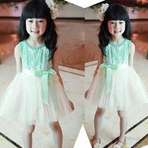 Hermoso Vestido Rayado Con Cinto Niña Promcion Moda Asiatica