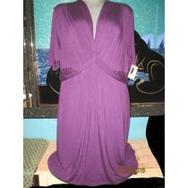 Vestido Plus Morado Talla 5 X Americano 0 52-54 Extragrande