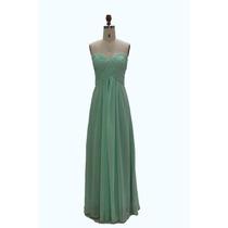 Vestido De Noche De Boda De Piesta De Chifon Largo Verde