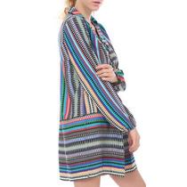Mini Vestido Bluson Camison Sexy Talla S Multicolor Playero