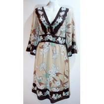 Vestido Floral Seda Bcbg Max Azria - Fashionella - S
