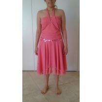 Vestido Rosa Talla M Aplicaciones En Lentejuela