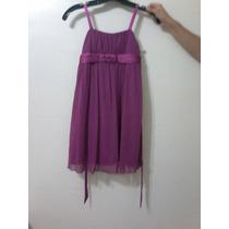 Vestido Fiesta Infantil Magenta Nuevo Talla 10
