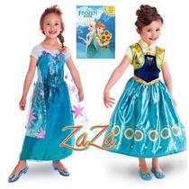 Vestido Frozen Tever Importado Hermoso Ama Y Elsa