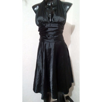 Vestido Negro Satinado Talla M