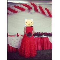 Vestido Xv Años, Rojo