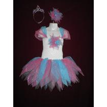 Nuevo Vestido Dress Tutu Lujo Primavera Fiesta Hada Princesa