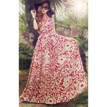 Elegante Vestido Japones Largo De Fiesta Casual Mod 5177