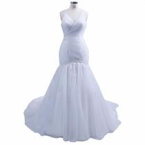 Baituya Vestido De Boda De Baile Largo Blanco