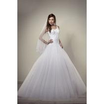 Hermoso Vestido De Novia Boda Princesa Tul Encaje Elegante