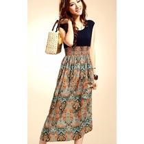 Bonito Vestido Largo Barato Trival Moda Asiatica Importado