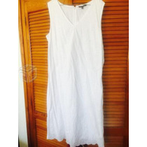 Vestido Blanco Indú Talla 34 Algodón 100%