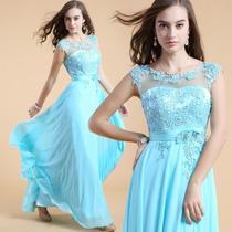 Hermoso Vestido De Noche Fiesta De Chiffon Damas Elegante