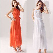 Vestido Largo Casual Fresco Primavera Envío Gratis 3017