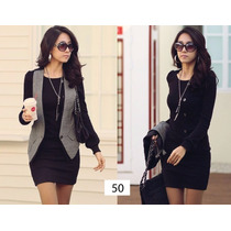 Vestido Corto Negro Con Botones Moda Japonesa Asiatica