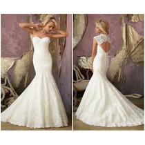 Hermoso Vestido De Novia Corte Sirena De Encage Elegante