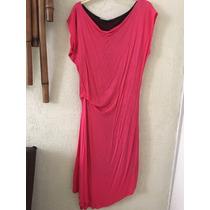 Vestido En Algodón Color Fiusha Talla M