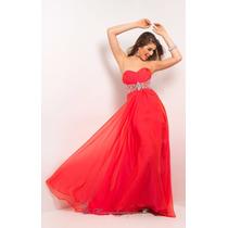 Vestido Color Rojo Con Brillos