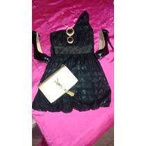 Hermoso Vestido Negro Marca Bebe 2