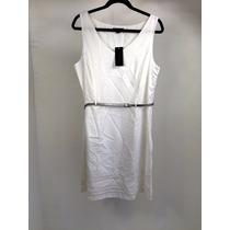 Vestido Casual Dama Marca Tommy Hilfiger, Color Blanco